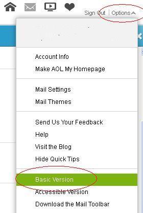 Aol mail basic version