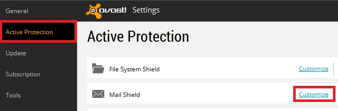 Avast Active Protection Mail Shield Customize.jpg