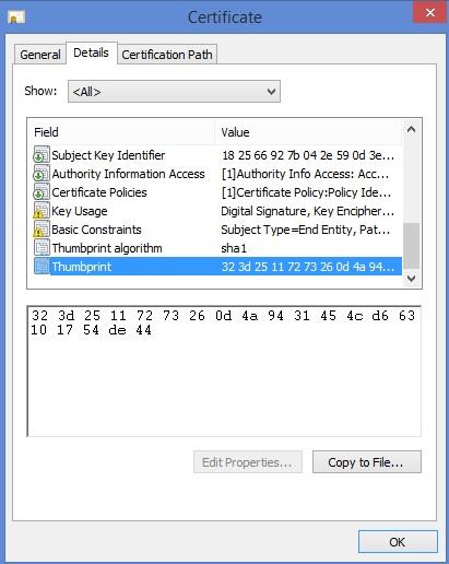 Hushmail certificate thumbprint.jpg