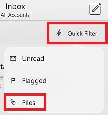 Microsoft Outlook App Quick Filter Files.jpg