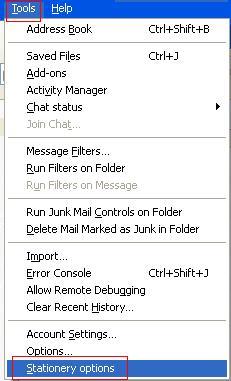 Mozilla Thunderbird Stationary Options.JPG