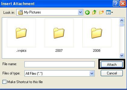 Outlook Express Attachment - Attach 2.JPG