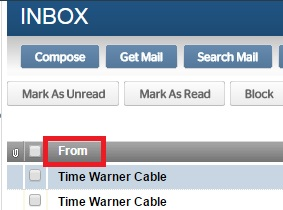 Time Warner sort by sender.jpg
