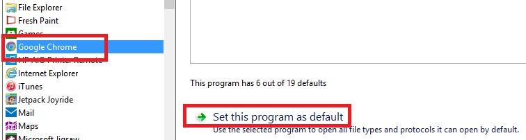 Windows 8 set Google Chrome as default program.jpg