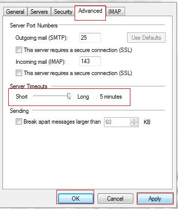 How to fix connection problems by increasing the mail server timeouts in Windows  Live Mail | Email Questions