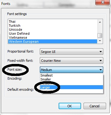 How to change the default font text size in Windows Live Mail 2011 | Email  Questions