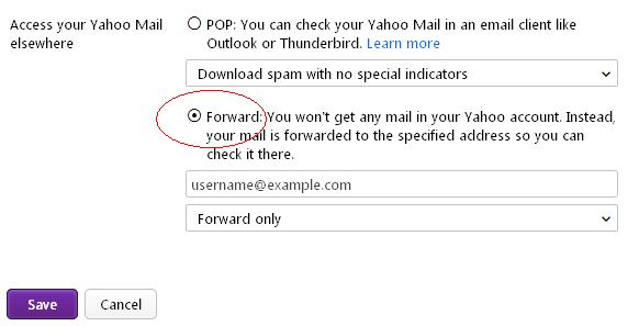 Yahoo automatically forward all email.JPG