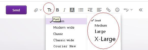 Yahoo change font size text.JPG