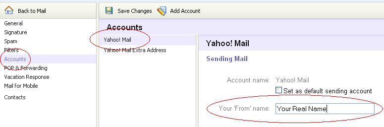 How to change mobile no in yahoo mail id