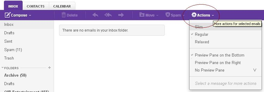 Yahoo Mail Preview Pane Options.JPG