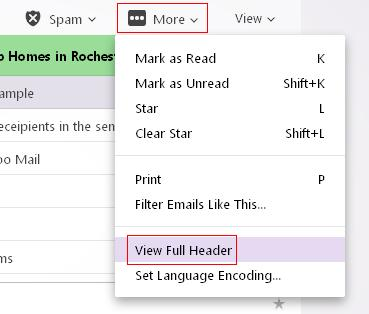 Yahoo Mail View Full Headers.JPG