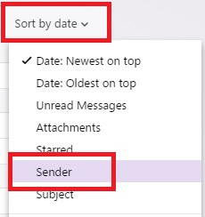 Yahoo sort by sender.jpg